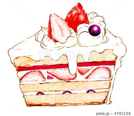 苺のショートケーキのイラスト素材 4792238 Pixta