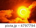 日食 金環 金環日食の写真 4797794