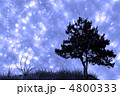 tree and grass on night sky collage 4800333