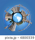 circle Panorama of building of an housing estate on globe Earth 4800339