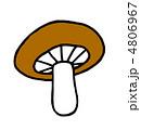 シイタケ しいたけ 椎茸のイラスト 4806967