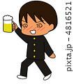 未成年 ビール 学生のイラスト 4816521