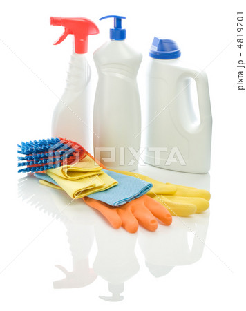 group of cleaning objectsの写真素材 [4819201] - PIXTA