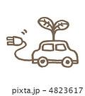 電気自動車 エコカー エレクトリックカーのイラスト 4823617