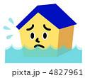 水害にあう家 4827961