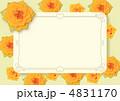 メッセージカード黄色いバラ【リボン無】 4831170