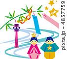 天の川 織り姫 織姫のイラスト 4857759