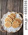 プレーンワッフル お菓子 洋菓子の写真 4866398