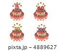 ろうそく・数字付き 誕生日ケーキ5~100 4889627