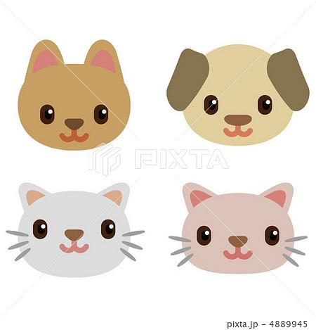 犬猫のイラスト素材 4889945 Pixta