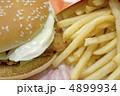 おいしいフライドポテトとチキンバーガー 4899934