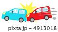 自動車事故 追突 アクシデントのイラスト 4913018