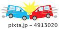 正面衝突 自動車事故 事故のイラスト 4913020