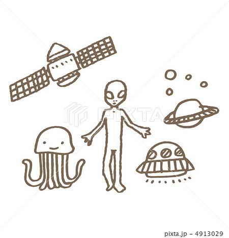 グレイタイプの宇宙人のイラスト素材 4913029 Pixta