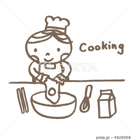 料理する男の子のイラスト素材 4926008 Pixta