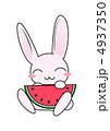 ウサギ うさぎ 動物のイラスト 4937350