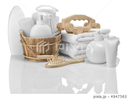 composition of bathing accessoriesの写真素材 [4947563] - PIXTA