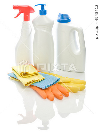 bottles rags and glovesの写真素材 [4948412] - PIXTA