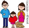 家族 お父さん お母さんのイラスト 4953451