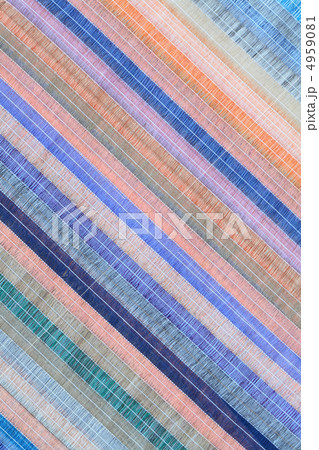 Colored Striped Fabric Backgroundの写真素材 [4959081] - PIXTA
