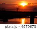 夕焼け 多摩川 夕暮れの写真 4970673