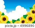 ひまわりと夏空 4996890