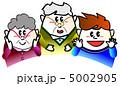 おばあさん 祖父母 おじいさんのイラスト 5002905