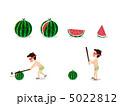 水瓜とスイカ割り 5022812