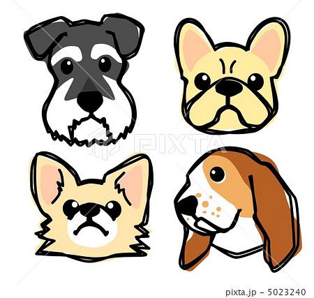 犬 顔 イラストのイラスト素材 5023240 Pixta