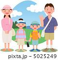 レジャー 家族 ピクニックのイラスト 5025249