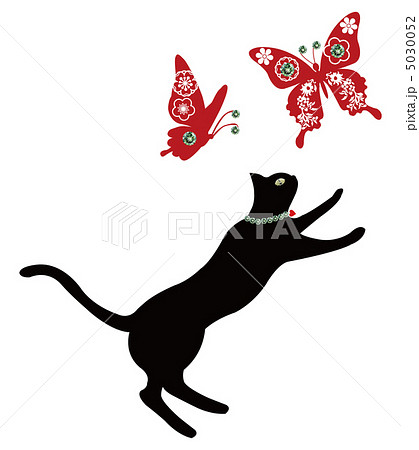 黒猫と蝶のイラスト素材 [5030052 ... : 動物の影絵 : すべての講義