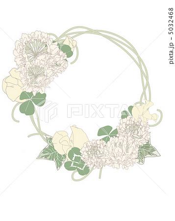 シロツメクサの花冠のイラスト素材 5032468 Pixta