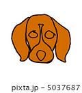 ドッグ ビーグル 動物のイラスト 5037687