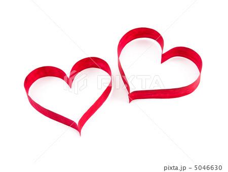 Paper red heartsの写真素材 [5046630] - PIXTA