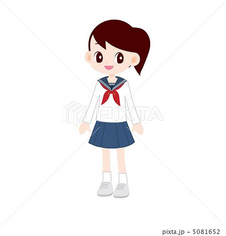 女子中学生 セーラー服のイラスト素材 5081652 Pixta