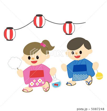 夏祭りのイラスト素材 [5087248 ... : 幼児のイラスト : イラスト