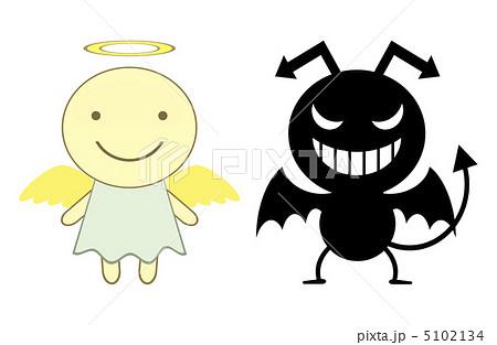 天使と悪魔のイラスト素材 5102134 Pixta