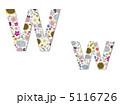 花柄 W 花のイラスト 5116726