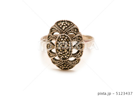 Silver ring isolated on the white backgroundの写真素材 [5123437] - PIXTA