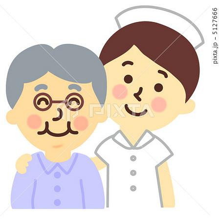 患者を励ます看護師のイラスト素材 5127666 Pixta