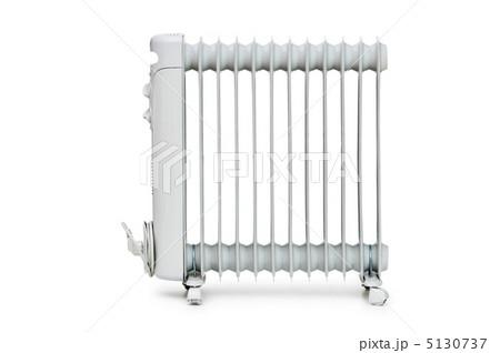 Oil radiator isolated on the white backgroundの写真素材 [5130737] - PIXTA