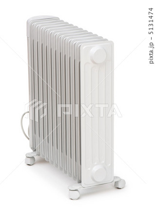Oil radiator isolated on the white backgroundの写真素材 [5131474] - PIXTA