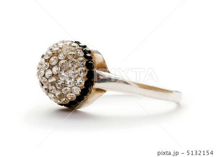 Jewellery ring isolated on the white backgroundの写真素材 [5132154] - PIXTA