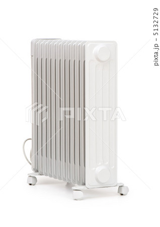 Oil radiator isolated on the white backgroundの写真素材 [5132729] - PIXTA