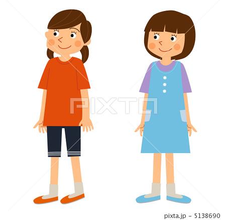 小学生女の子のイラスト素材 5138690 Pixta
