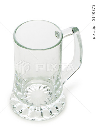 Beer glasses isolated on the white backgroundの写真素材 [5140875] - PIXTA
