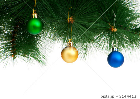 Christmas decoration isolated on the white backgroundの写真素材 [5144413] - PIXTA