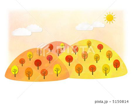 秋の山のイラストのイラスト素材 5150814 Pixta