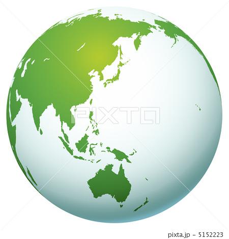 日本を中心とした地球