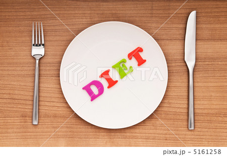 Plate with letters on the white backgroundの写真素材 [5161258] - PIXTA